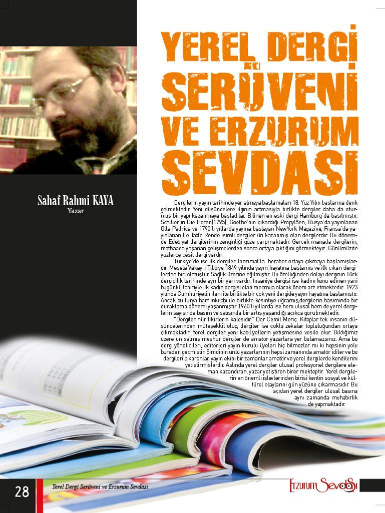 Yerel Dergi Serüveni