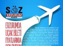 ERZURUM'DA UÇAK BİLETİ FİYATLARINDA SON DURUM