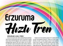ERZURUM'A HIZLI TREN
