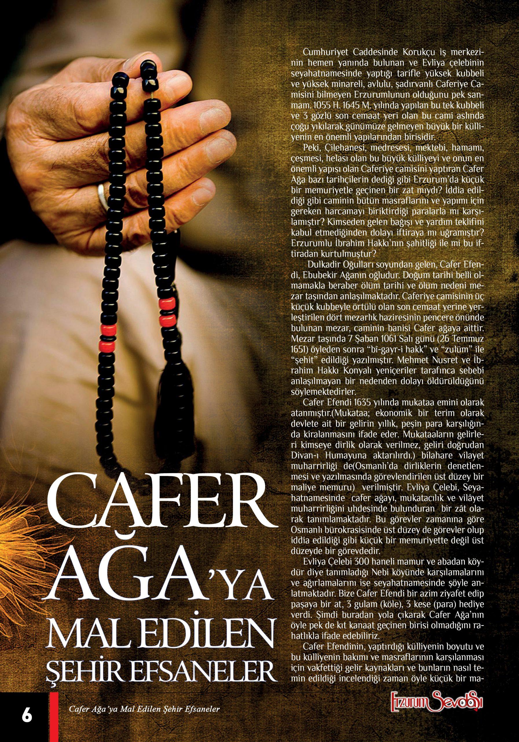 CAFER AĞA'YA MAL EDİLEN ŞEHİR EFSANELERİ