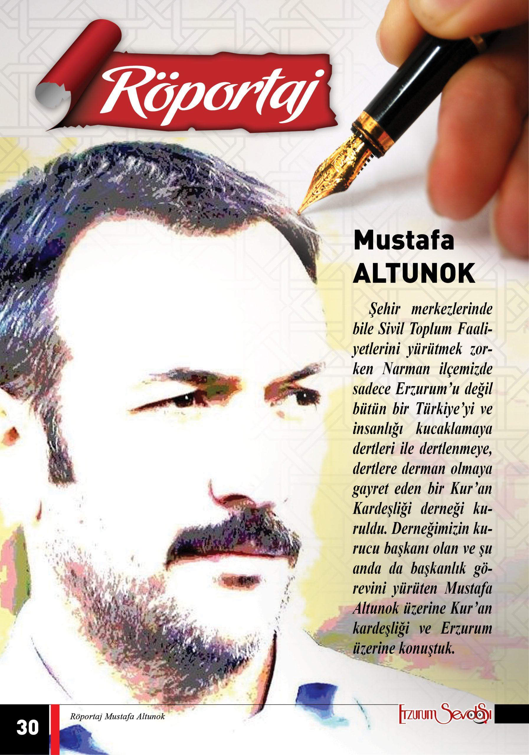 Mustafa Altunok İle Röportaj