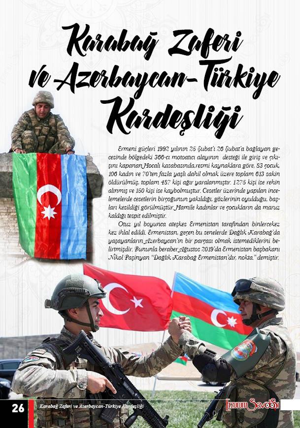 Karabağ zaferi ve Azerbaycan-Türkiye kardeşliği