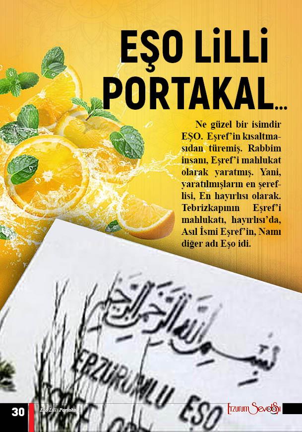 EŞO LİLLİ PORTAKAL